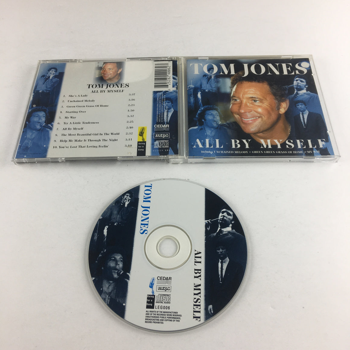 Tom Jones All By Myself Used CD VG+ LEG006