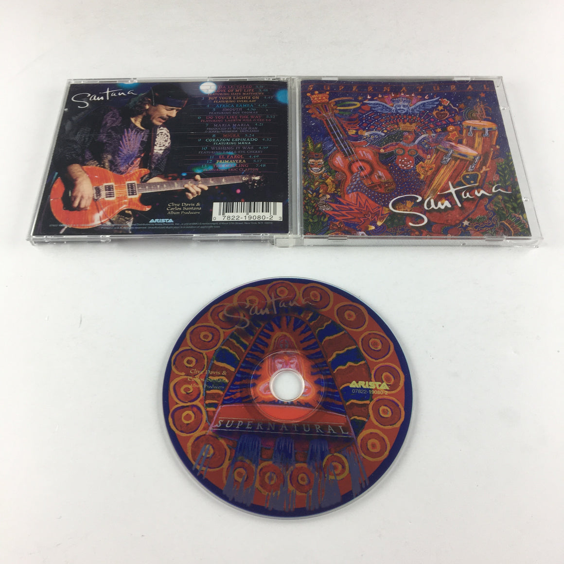 Santana Supernatural Used CD VG+ 07822-19080-2, 19080-2