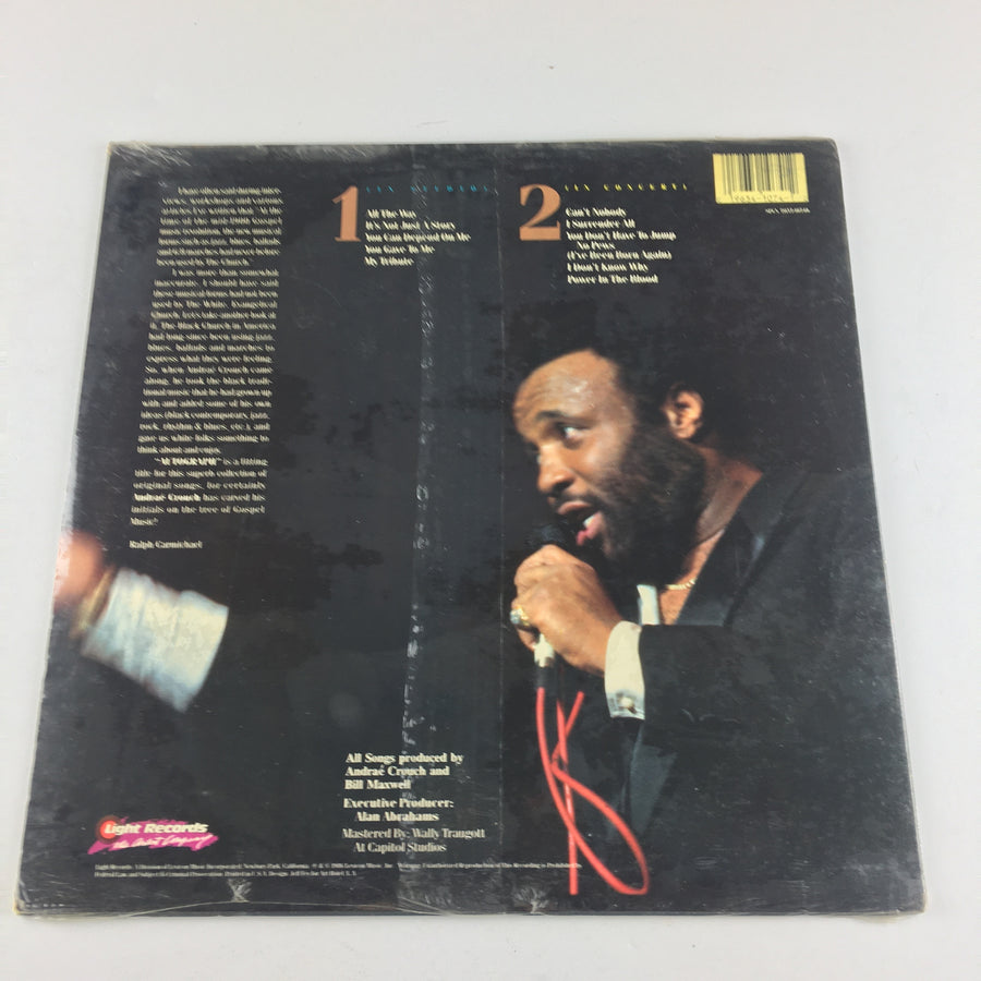 Andrae Crouch Autograph Used Vinyl LP M\VG+ SPCN 7-115-71074-0