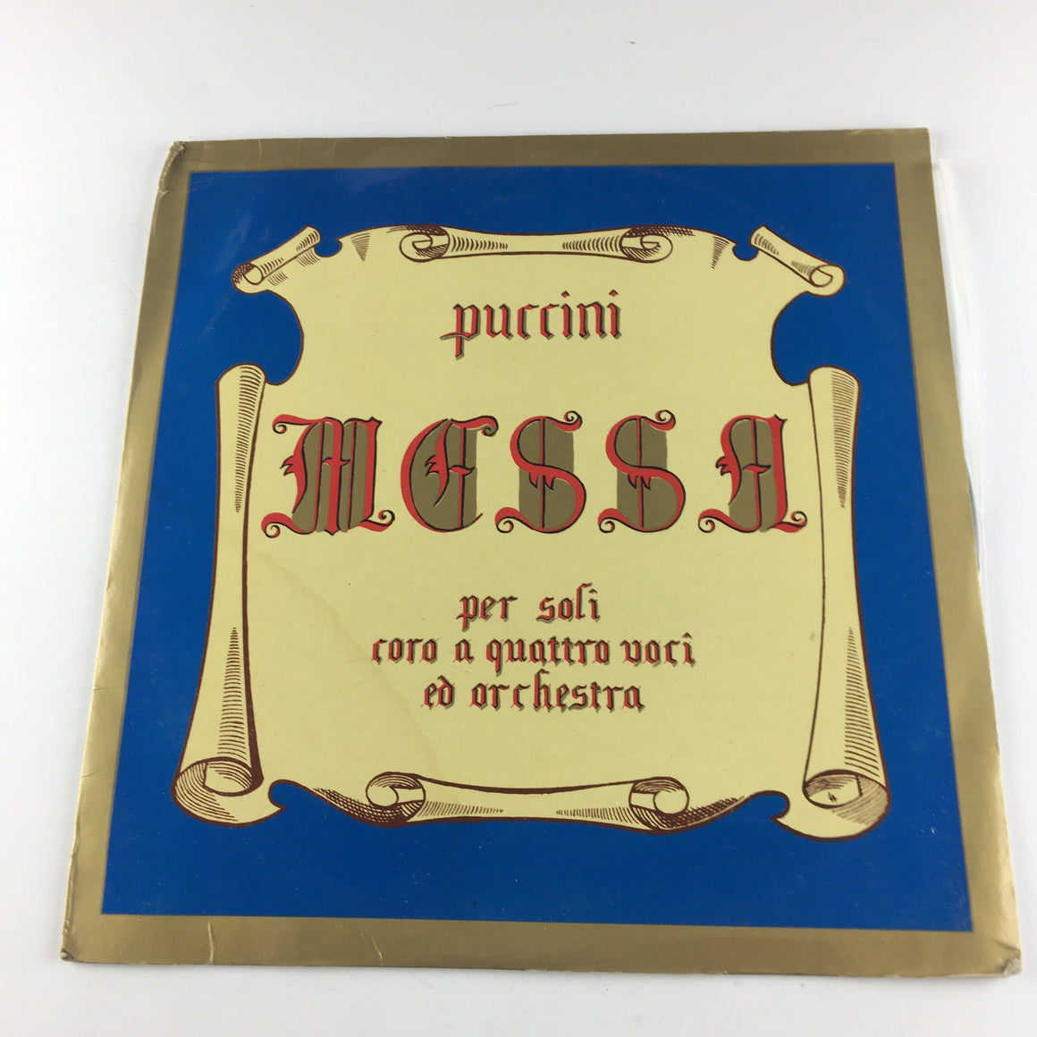 Puccini Messa Used Vinyl LP VG+\G