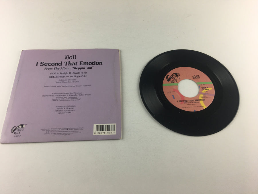"10db I Second That Emotion Used 45 RPM 7"" Vinyl VG+ A 601-7"