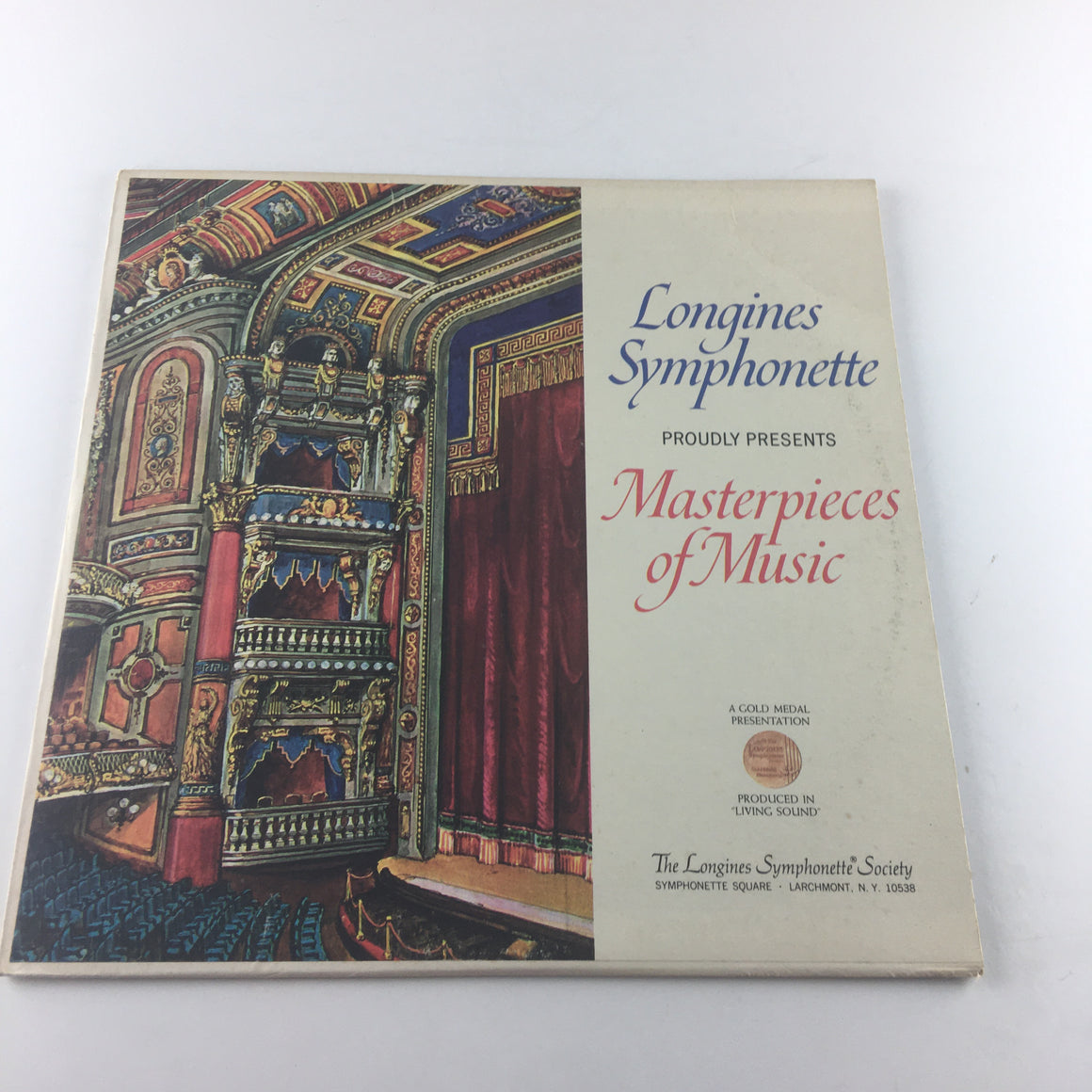 The Longines Symphonette Masterpieces Of Music Used Vinyl LP VG+ LWCP 3