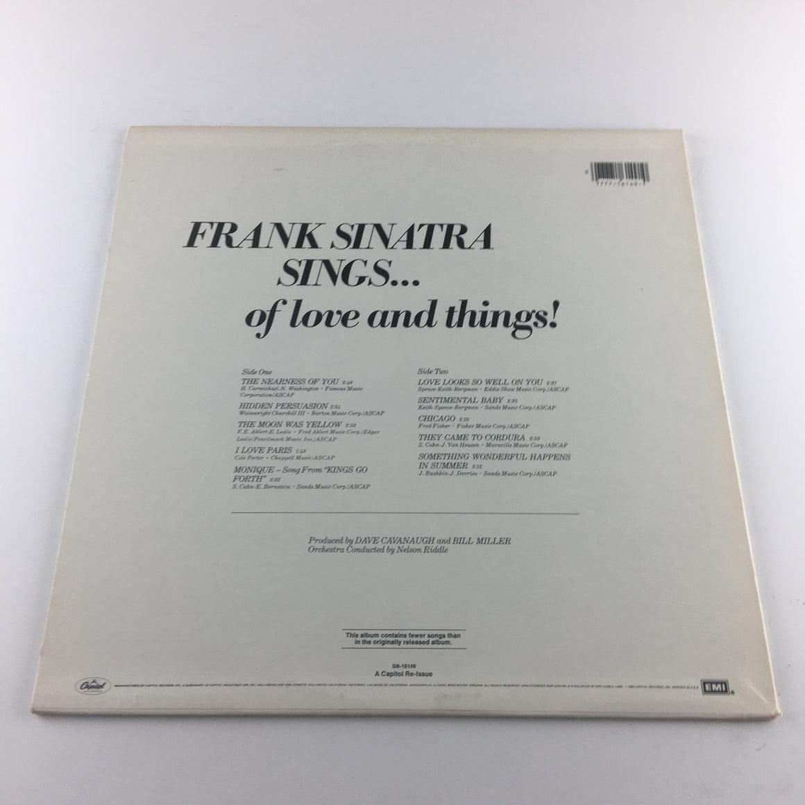 Frank Sinatra Sinatra Sings...Of Love And Things Used Vinyl LP VG+\VG SN-16149
