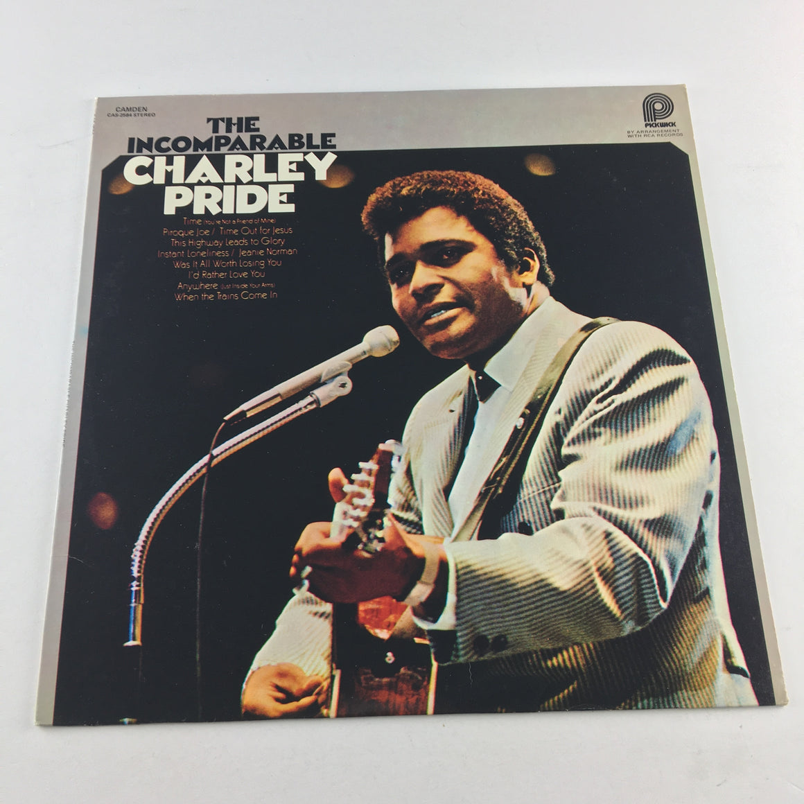 Charley Pride The Incomparable Charley Pride Used Vinyl LP VG+ CAS-2584