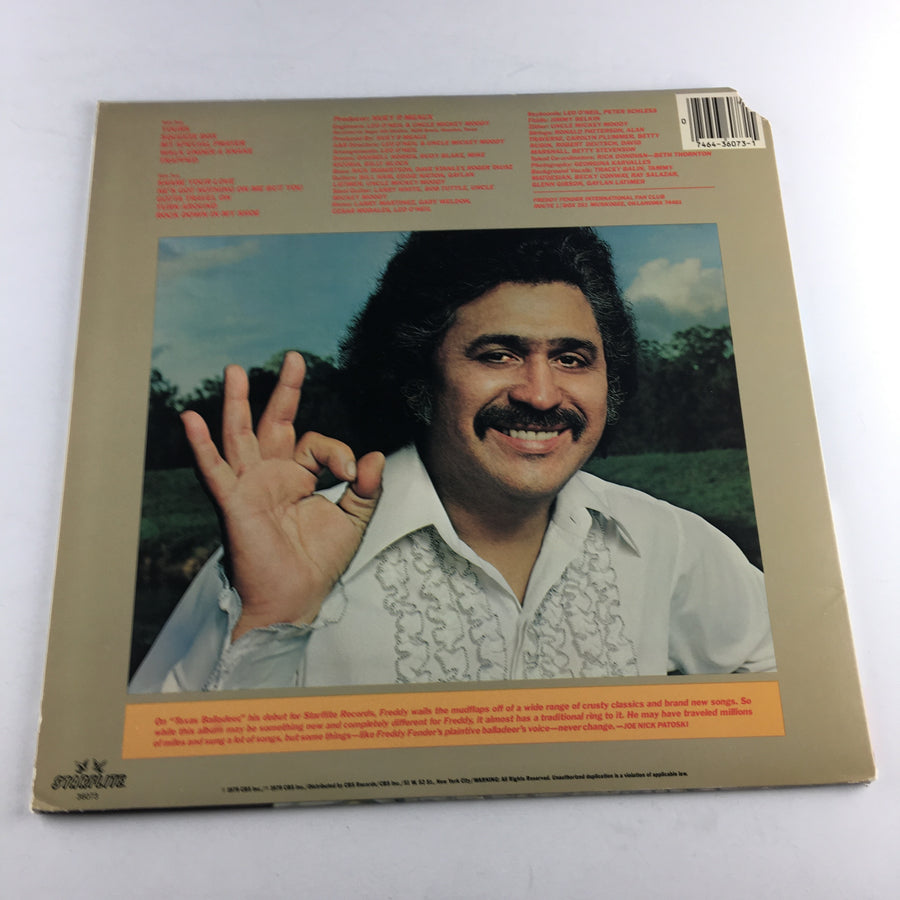 Freddy Fender The Texas Balladeer Used Vinyl LP VG+\G+ JZ 36073, 36073