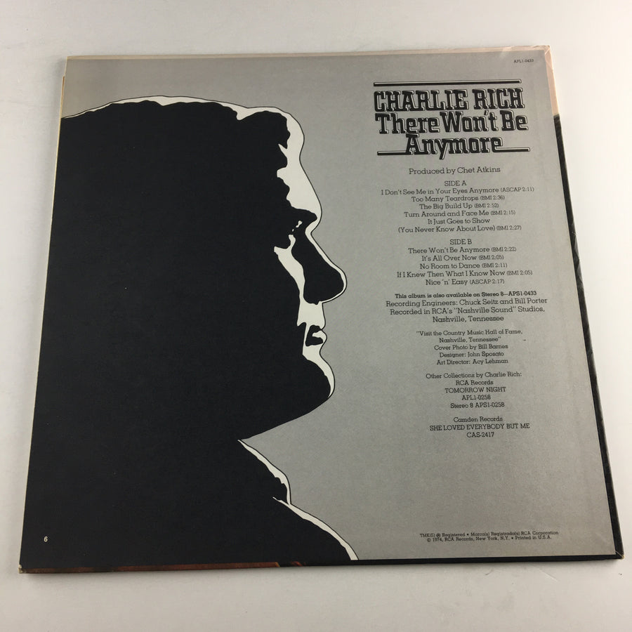 Charlie Rich There Won't Be Anymore Used Vinyl LP VG+ APL1-0433