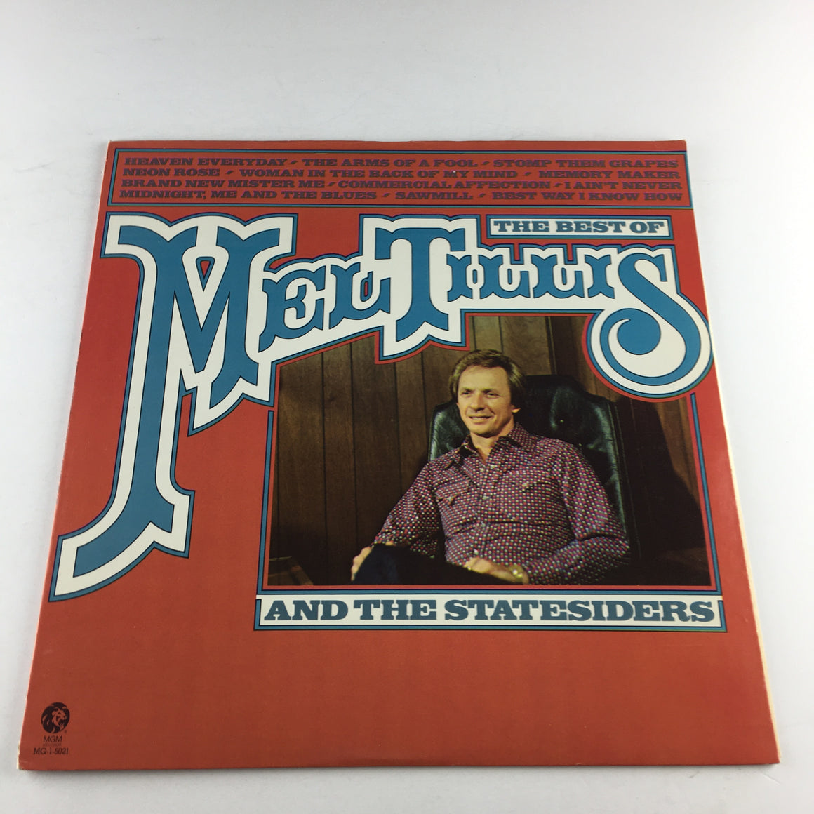 The Best Of Mel Tillis And The Statesiders Used Vinyl LP VG+\VG MG-1-5021