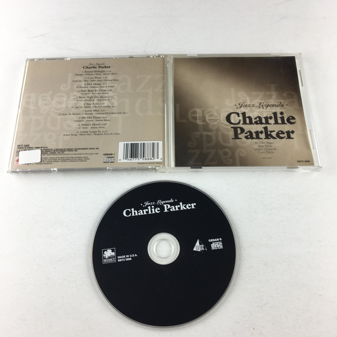 Jazz Legends Charlie Parker VG+ CD Sealed BBT2 5888