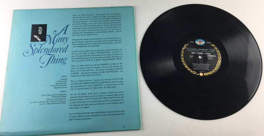 Nat King Cole A Many Splendored Thing Used Vinyl LP VG+ SY5161
