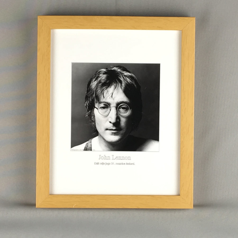 "John Lennon Framed Art Print - 10"" X 12"" - Quality Wood Frame"
