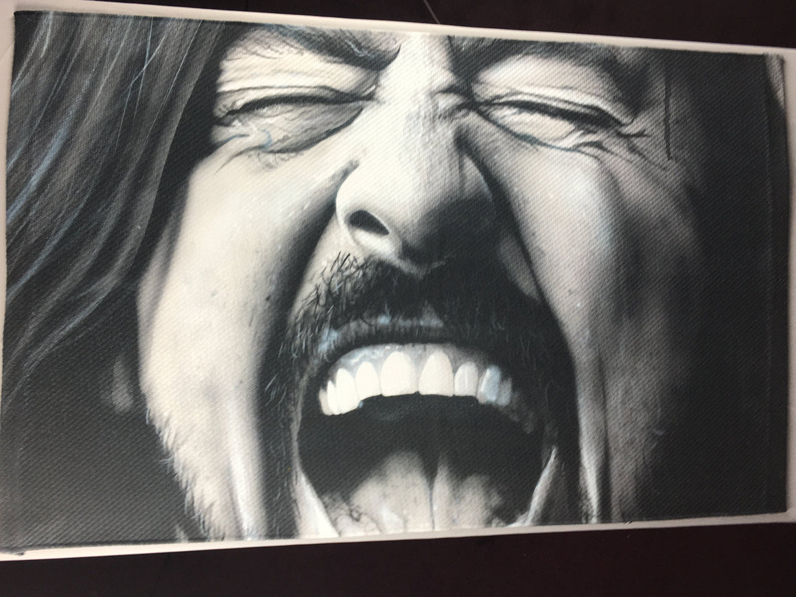 Grohl in Black 2' X 3' Area Rug (or wall hanging) includes Skid Pad