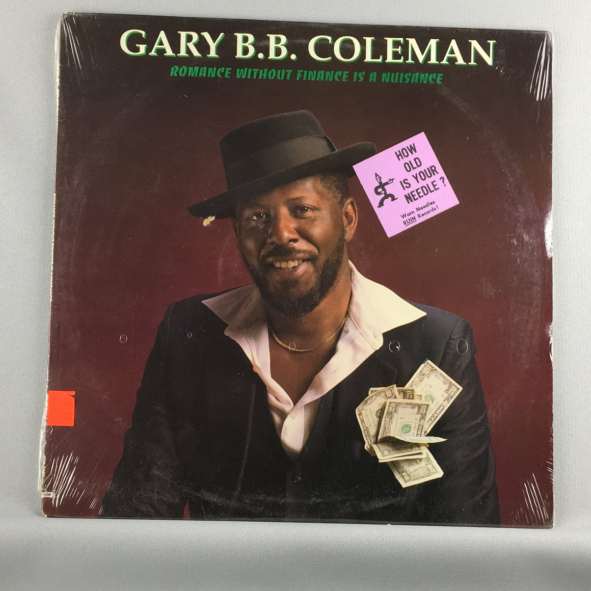 Gary B.B. Coleman ‎– Romance Without Finance Is A Nuisance - Used Sealed LP - NM\VG+