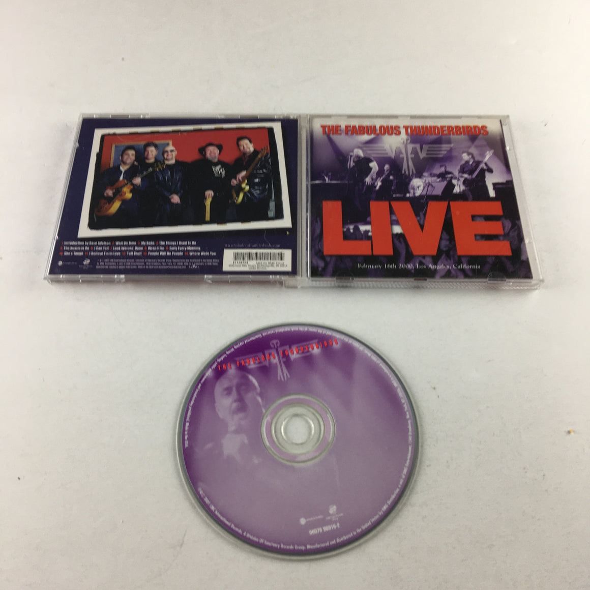 The Fabulous Thunderbirds Live Used CD VG 06076 86315-2