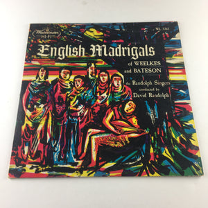 English Madrigals of Weelkes and Bateson Used Vinyl LP VG+\VG WL 5361