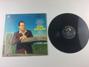 Don Gibson That Gibson Boy Used Vinyl LP VG+\G LPM-2038, LPM 2038