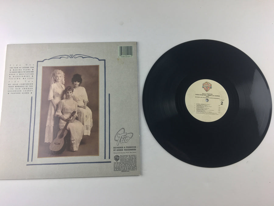 Dolly Parton Linda Ronstadt Emmylou Harris Trio Used Vinyl LP VG+ 9 25491-1, 1-25491, 25491-1