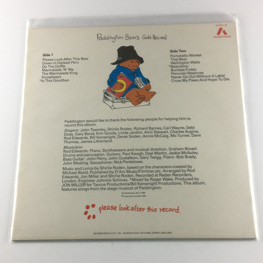 Paddington Bear's Gold Record Used Vinyl LP NM\VG+ ATXLP07