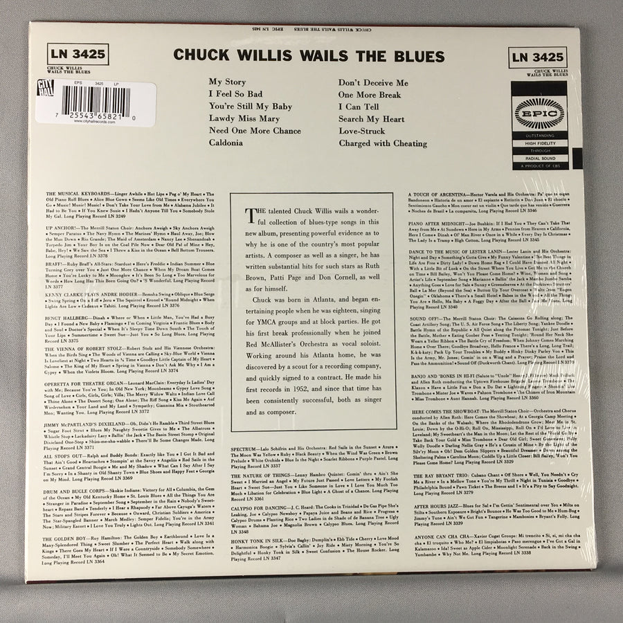 Chuck Willis ‎– Wails The Blues - New Sealed LP