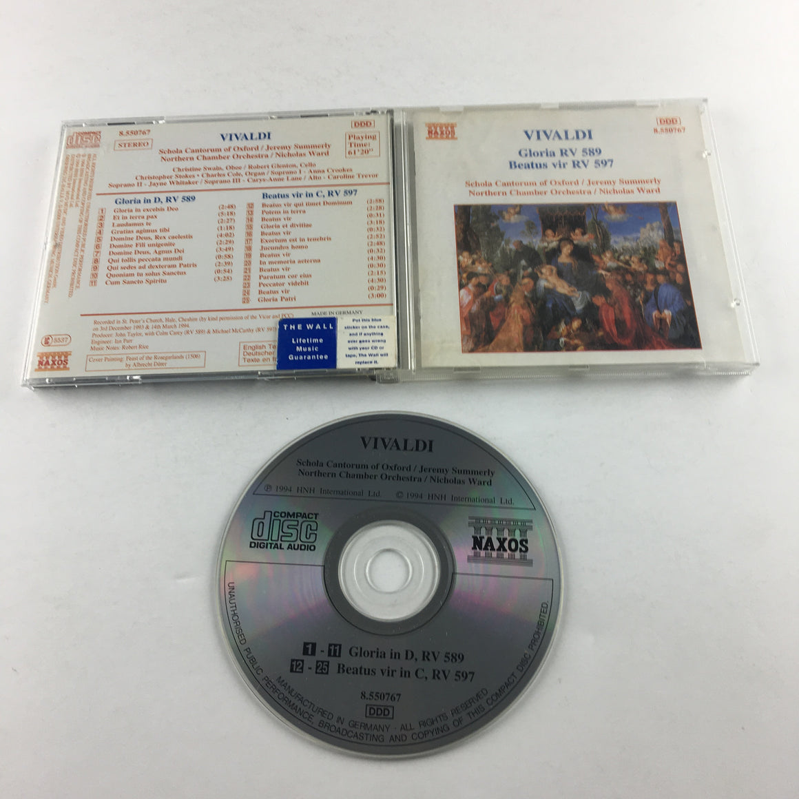 Vivaldi Schola Cantorum of Oxford Gloria RV 589 Beatus Vir RV 597 Used CD VG 8.550767