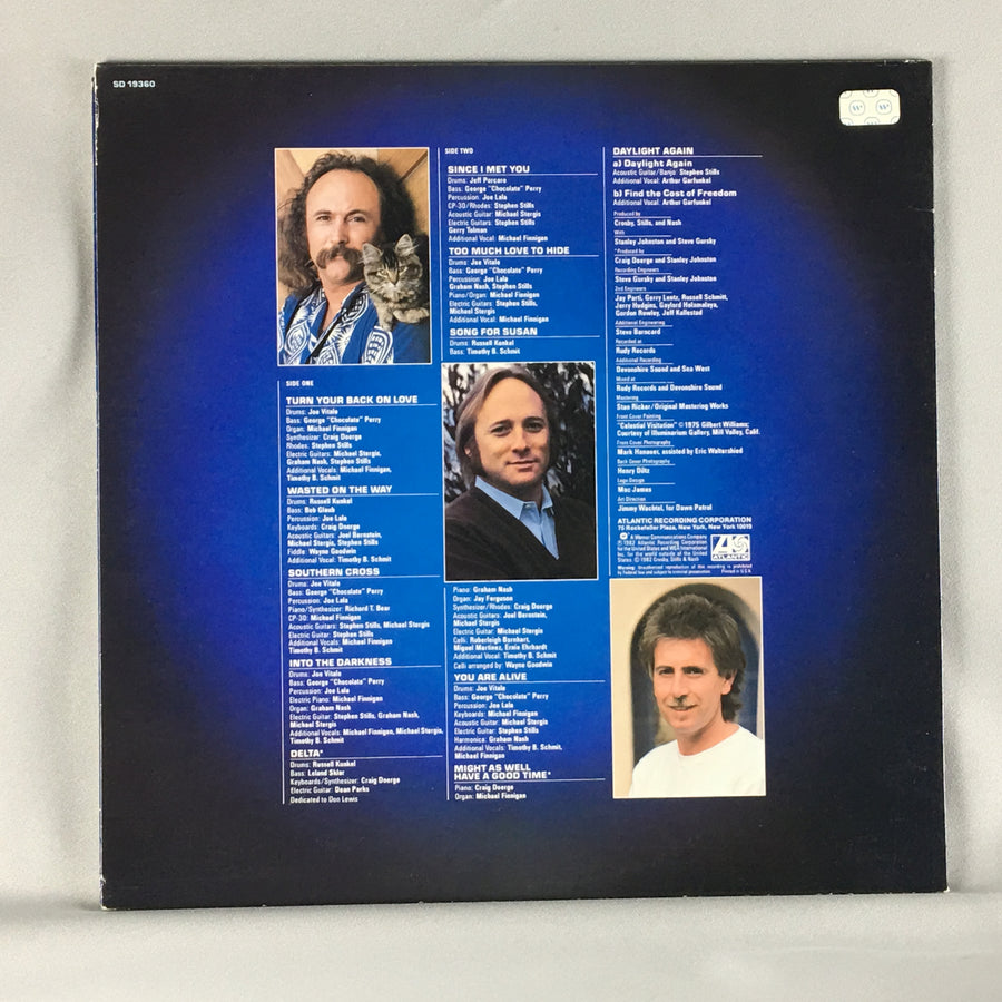 Crosby, Stills & Nash ‎– Daylight Again Orig Press Used LP VG SD 19360