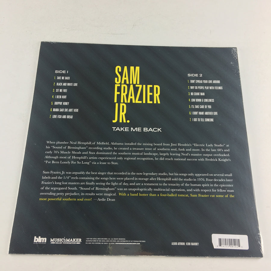 Big Sam Frazier Jr. Take Me Back New Vinyl LP M BLM0541