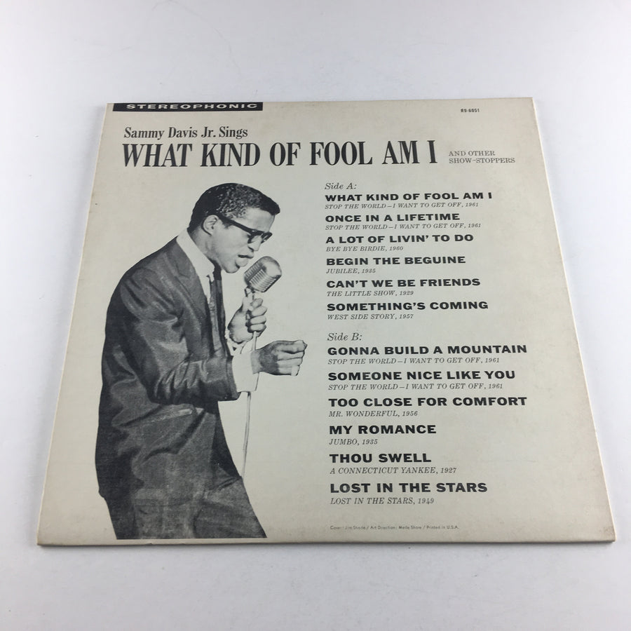 Sammy Davis Jr. Sings What Kind Of Fool Am I Used Vinyl LP VG+ R9-6051