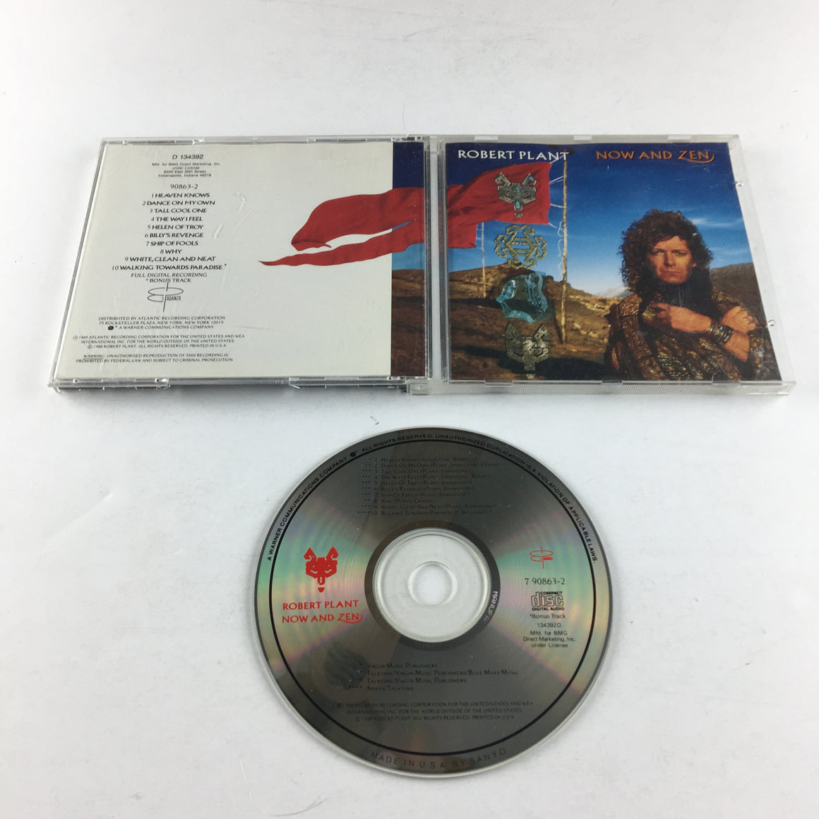 Robert Plant Now And Zen Used CD VG+ 7 90863-2