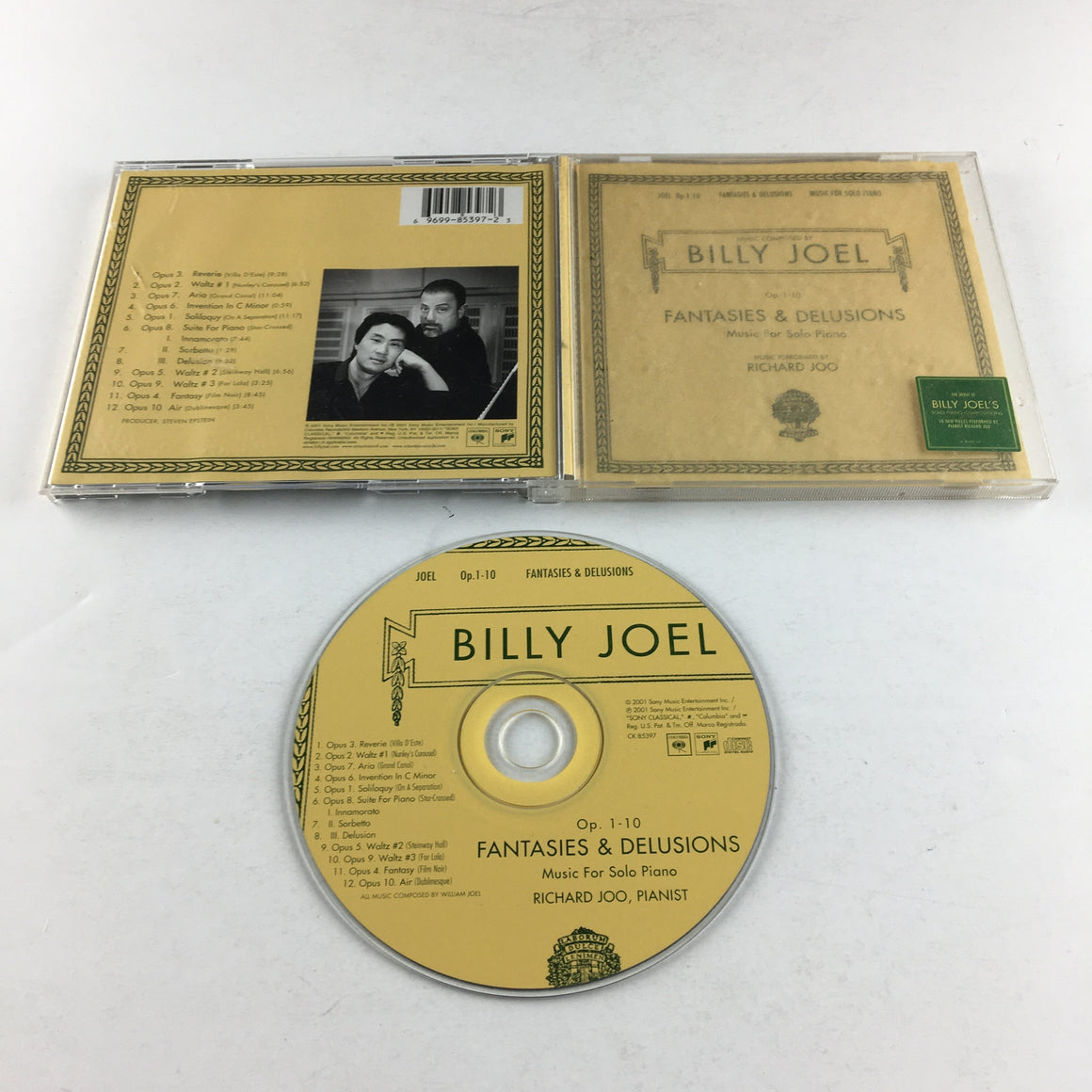 Billy Joel And Richard Joo Fantasies & Delusions Used CD VG+ CK 85397