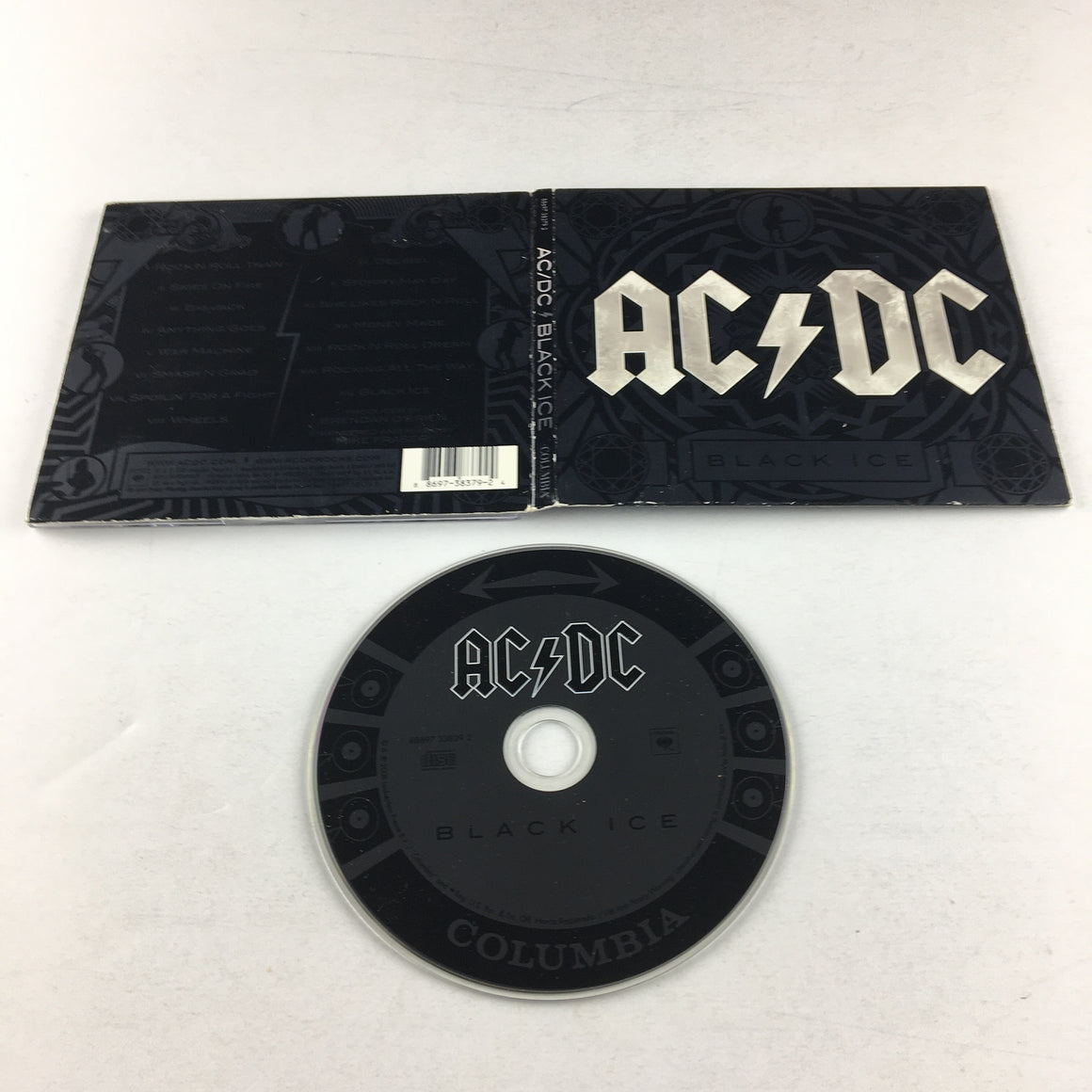 AC/DC Black Ice Used CD VG+ 88697383792 Walmart White Lettering