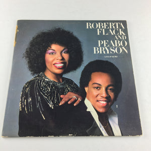 Roberta Flack And Peabo Bryson Live & More Used Vinyl 2LP VG\G+ SD 2-7004