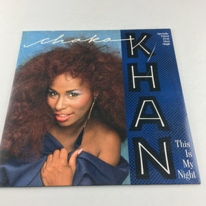 "Chaka Khan This Is My Night 12"" Used Vinyl Single VG+ 920 296-0"