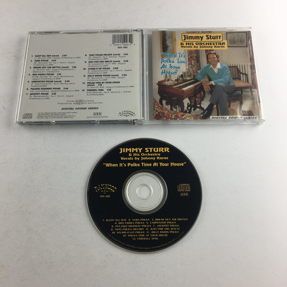Jimmy Sturr And His Orchestra When It's Polka Time At Your House Used CD VG+ 574