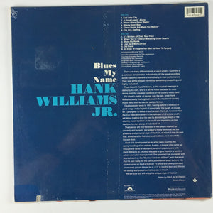 Hank Williams Jr. ‎– Blues My Name Used LP M\VG+ 833 069-1 Y-1
