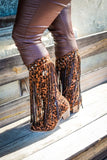 Fringed Leopard Cowboy Boots by L&B