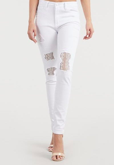 White Lace Jeans by Judy Blue