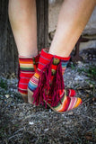 Serape and Concho Fringe Boots by L&B