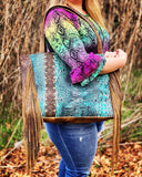 Keep It Gypsy Stella Turquoise Leather LV Accent Bag