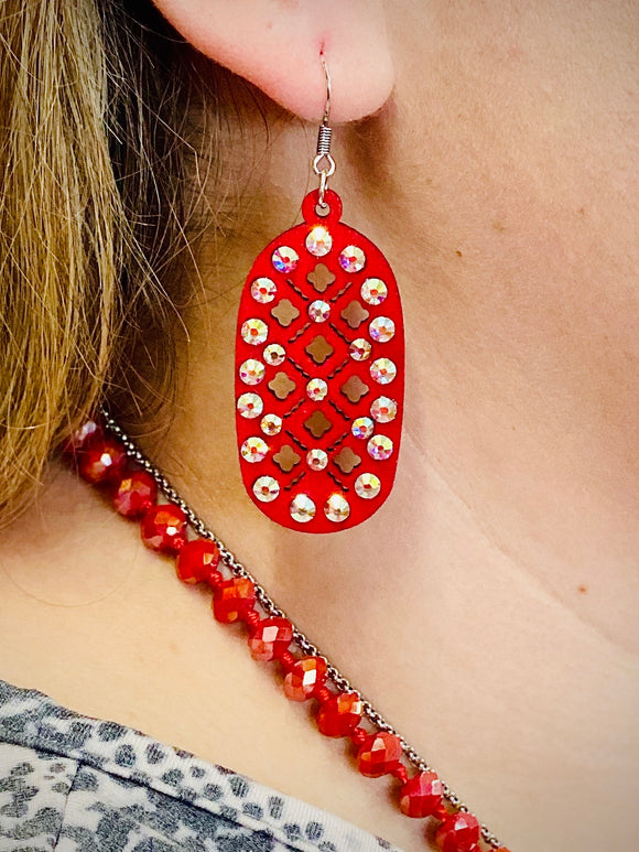 Red Marisol Earrings by Sagebrush Sally's