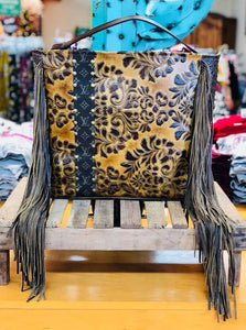 Keep It Gypsy Gold Tooled Leather LV Accent Bag