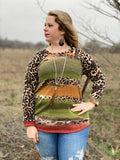 Leopard Sunset Women's Top
