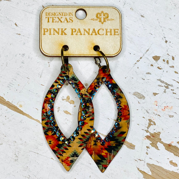 Aztec Drop Pink Panache Earrings
