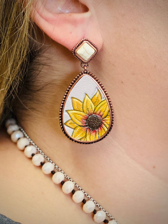 Cream Sunny Sierra Earrings by Sagebrush Sally's