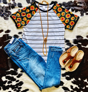 Sunflower Stripe Tee