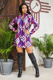 Button Up Tunic Dress by L&B