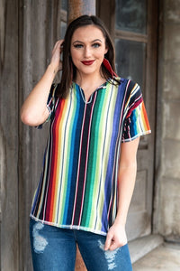 Serape Stockyards Womens Shirt by L&B