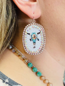 Lonestar Longhorn Earrings by Sagebrush Sally's