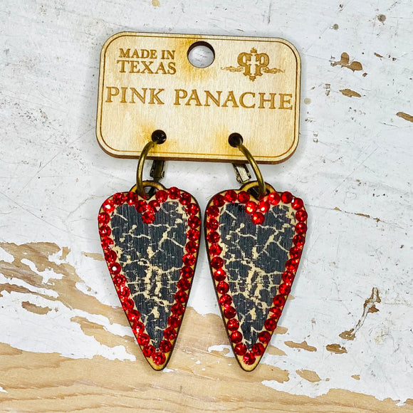 All The Heart Eyes Pink Panache Earrings