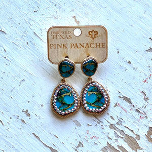 Pink Panache Turquoise Marbled Earrings