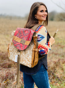 Red River Keep It Gypsy LV Accent Leather Backpack