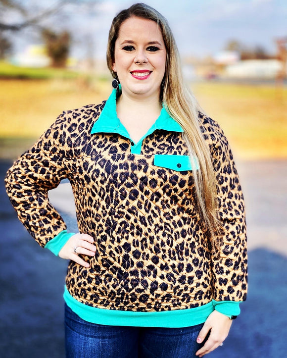 Yes Queen Leopard Pullover by Crazy Train